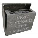 """Wall ashtray """"Merci d'éteindre votre cigarette"""""""