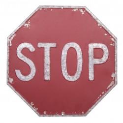 Panneau STOP octogonal en metal à suspendre