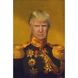 Portrait de Donald Trump général 30 x 40 cm