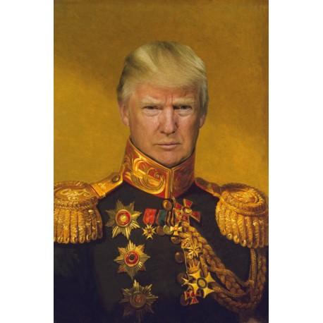 Portrait of Donald Trump general 30 x 40 cm