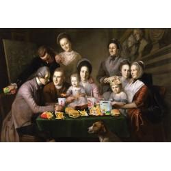 Portrait de la famille Mc Donald 30 x 40 cm