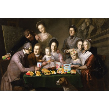 Portrait of Mc Donald Family 30 x 40 cm