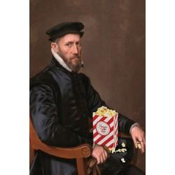 Portrait of the Pop Corn eater 30 x 40 cm