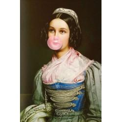 Portrait de la demoiselle au Chewing Gum 30 x 40 cm