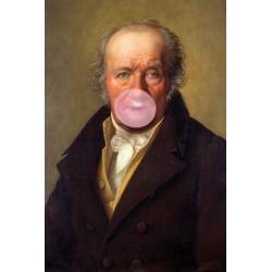 Portrait de l'homme au Chewing Gum 30 x 40 cm