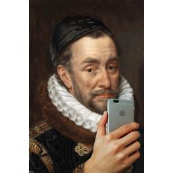 Portrait of the man making a selfie 30 x 40 cm
