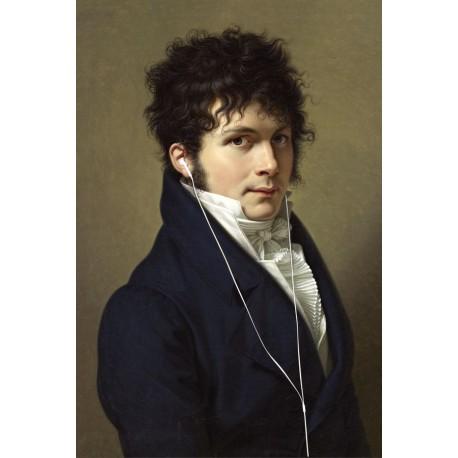 Portrait du gentilhomme aux écouteurs 30 x 40 cm