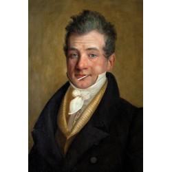 Portrait de l'aristocrate à la sucette 30 x 40 cm