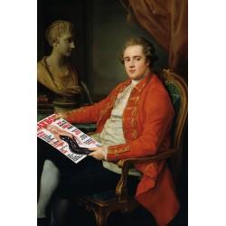 Portrait de l'aristocrate lisant Playboy 30 x 40 cm