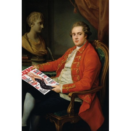 Portrait of the aristocrat who reads playboy 30 x 40 cm