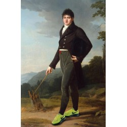 Portrait du gentilhomme aux Nike Air 30 x 40 cm