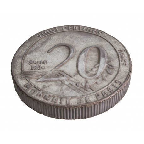 Dessous de plat 20 centimes zinc