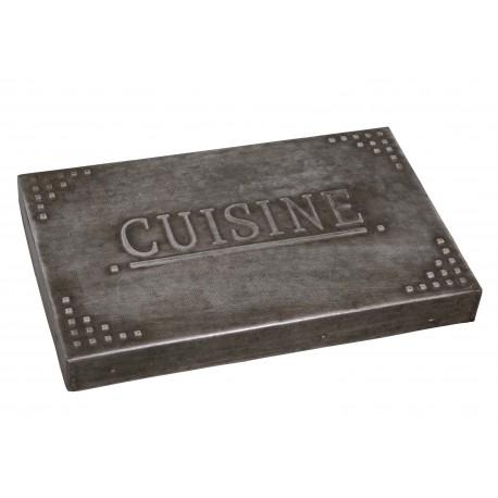 Table mat 20 centimes zinc