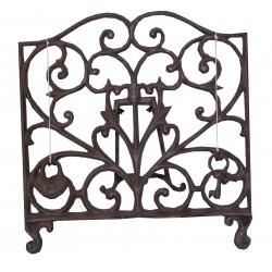 Cast iron decorative book rest