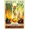 Affiche World Fair Chicago 1933 format 30 x 40 cm