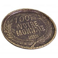Vide poche rendu de monnaie 100 Francs