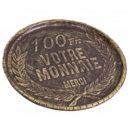 100 francs coin return tray