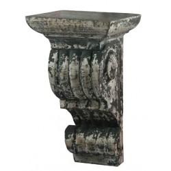 Étagère sculptée promontoir gris antique