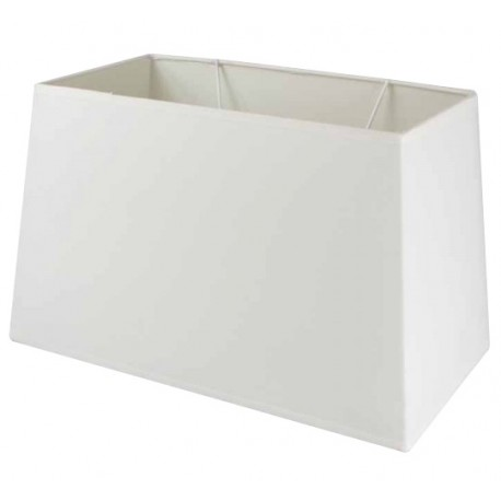 Abat-jour rectangulaire en lin couleur blanche