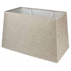 Camel linen rectangular lampshade