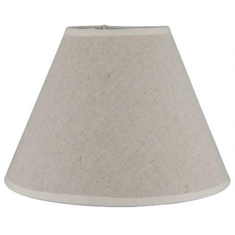 Round shade in raw linen Ø 23 cm