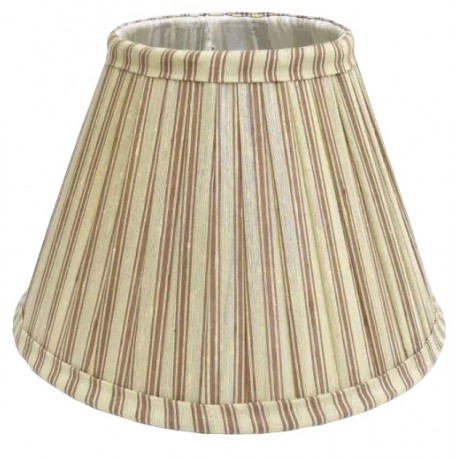 Beige round shades with red stripes Ø 30 cm with fully lined interior