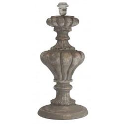 Tulip lamp base in gray wood