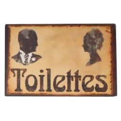 Plaque de toilettes silhouettes Homme/Femme