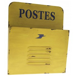 """Postes"" yellow metal mail holder"