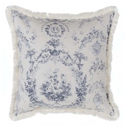 White cushion with frills 40 x 40 cm