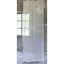 Rideau en lin Turandot brodé 140 x 290 cm