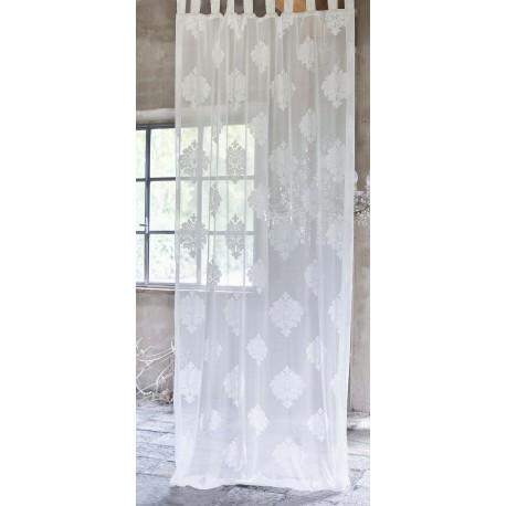 Rideau Jacquard Damask 150 x 290 cm à passants