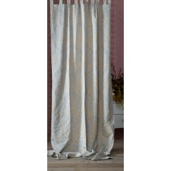 Curtain with loops Light blue 135 x 290 cm