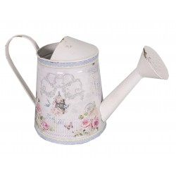 Decorative watering can with floral patterns
