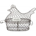 Hen egg basket made of wire