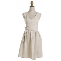 Country Collection women's kitchen apron beige