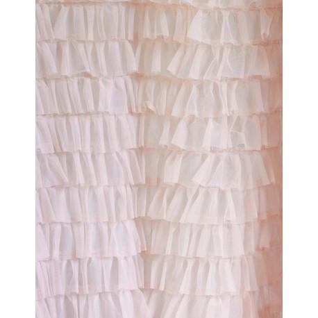 Rideau en tulle rose Armonia 150 x 290 cm