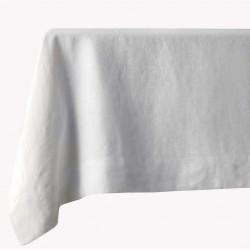 Nappe blanche en pur lin 140 x 250 cm