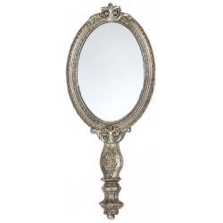 Miroir à main de style ancien avec décoration en relief
