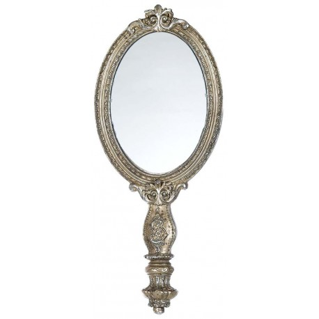 Old French mirror with monogram Antique silver