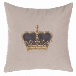 Velvet cushion Vota with dark grey crown 30 x 30