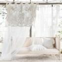 Curtain Tessa ecru with valance 140 x 290