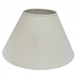 Round shade in white linen Ø 40 cm