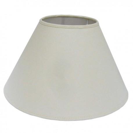 Round shade in white linen Ø 40 cm