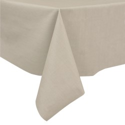 Taupe 60% linen/40% cotton tablecloth 140 x 250 cm
