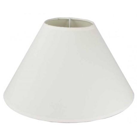 Round shade in white cotton Ø 35 cm