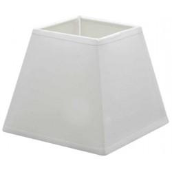 Abat-jour carré en coton blanc 25,5 x 25,5 cm