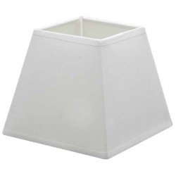 White cotton square lampshade 25 x 25 cm