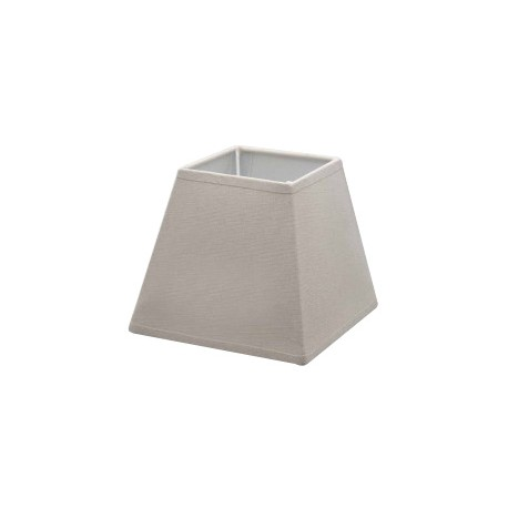 Taupe linen square lampshade 25 x 25 cm