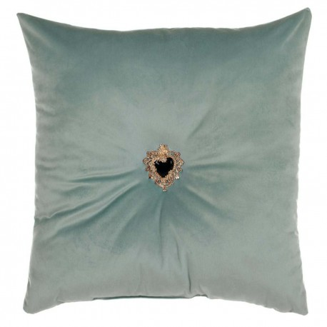 Velvet beige votive heart cushion 45 x 45